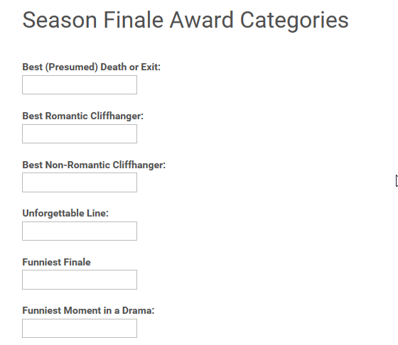 SeasonFinaleAwards